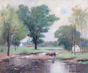 Davisson-Cows By the Stream-cropped