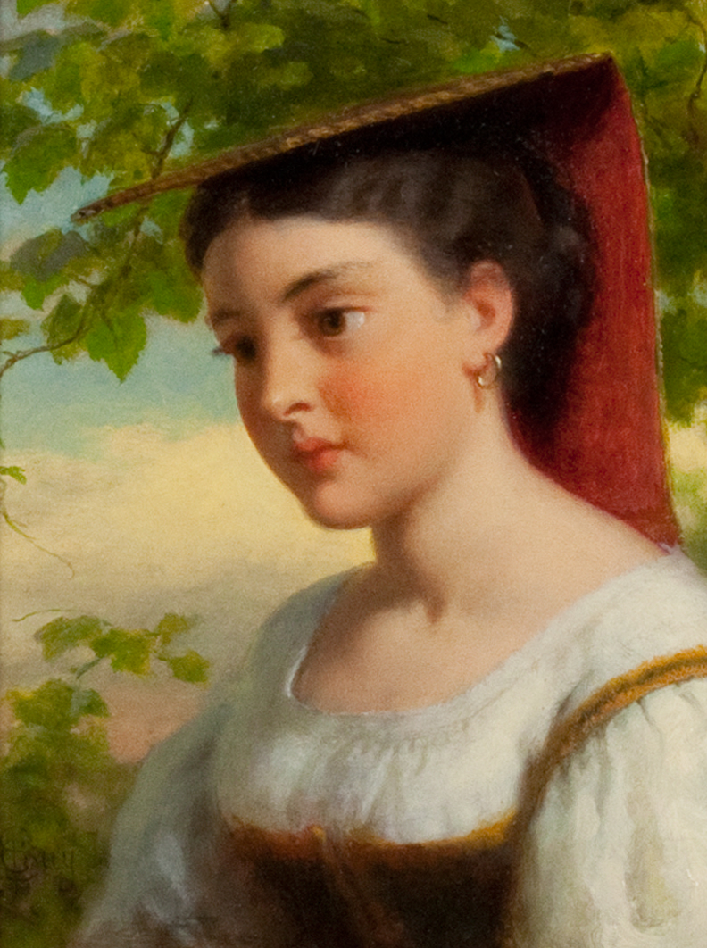Young Woman in Traditional Italian Dress