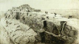 Borein-Edward---Walpi-third-Hopi-Mesa-unframed