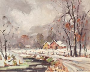 Smit-Winter in Brown County-framed copy