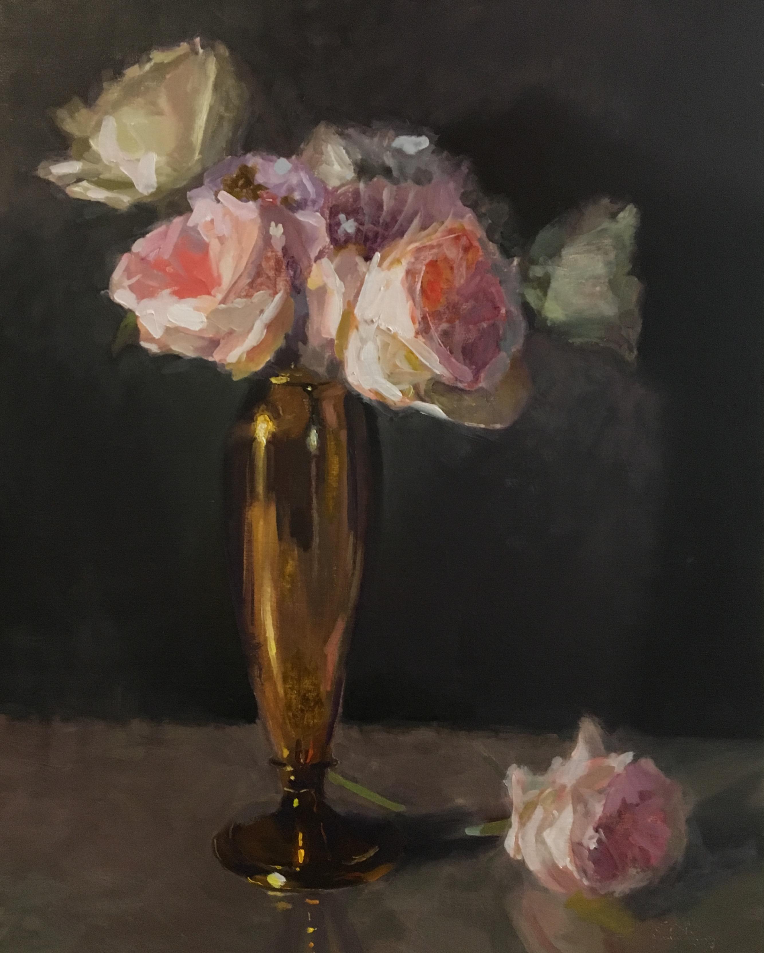 alt Roses & Brass Vase