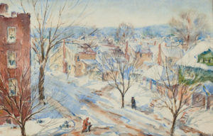 Gasser-Newark Street Snow Scene