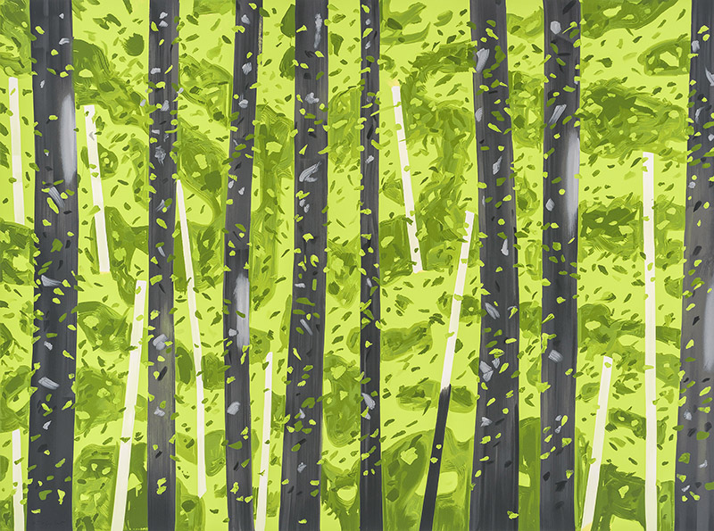 Alex Katz, 10:30am, silkscreen print, 55 x 74 inches