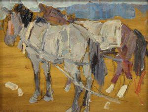 Gaspard Leon - Horses No6 China unframed