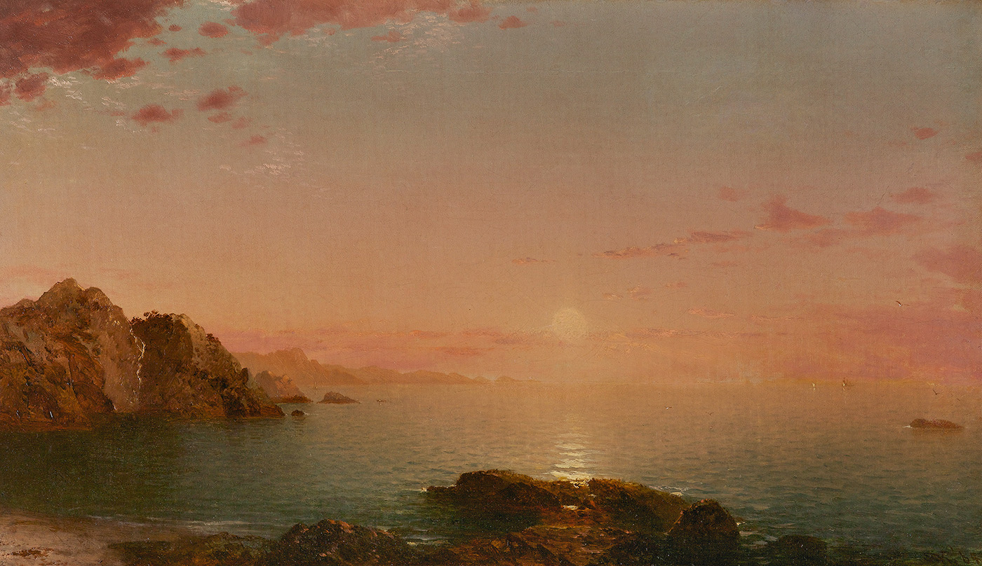 John Frederick Kensett (1816–1872) Pro Patria (Sunset on the Coast), 1864 Oil on canvas