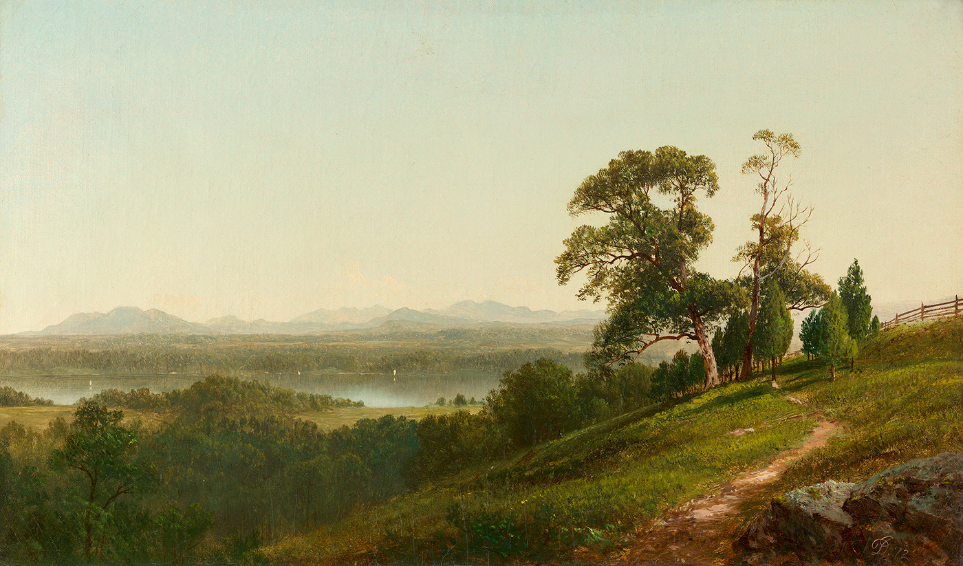 alt View of the Hudson from Barrytown, New York
