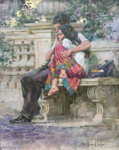 Carter-Couple in a Roman Garden-cropped