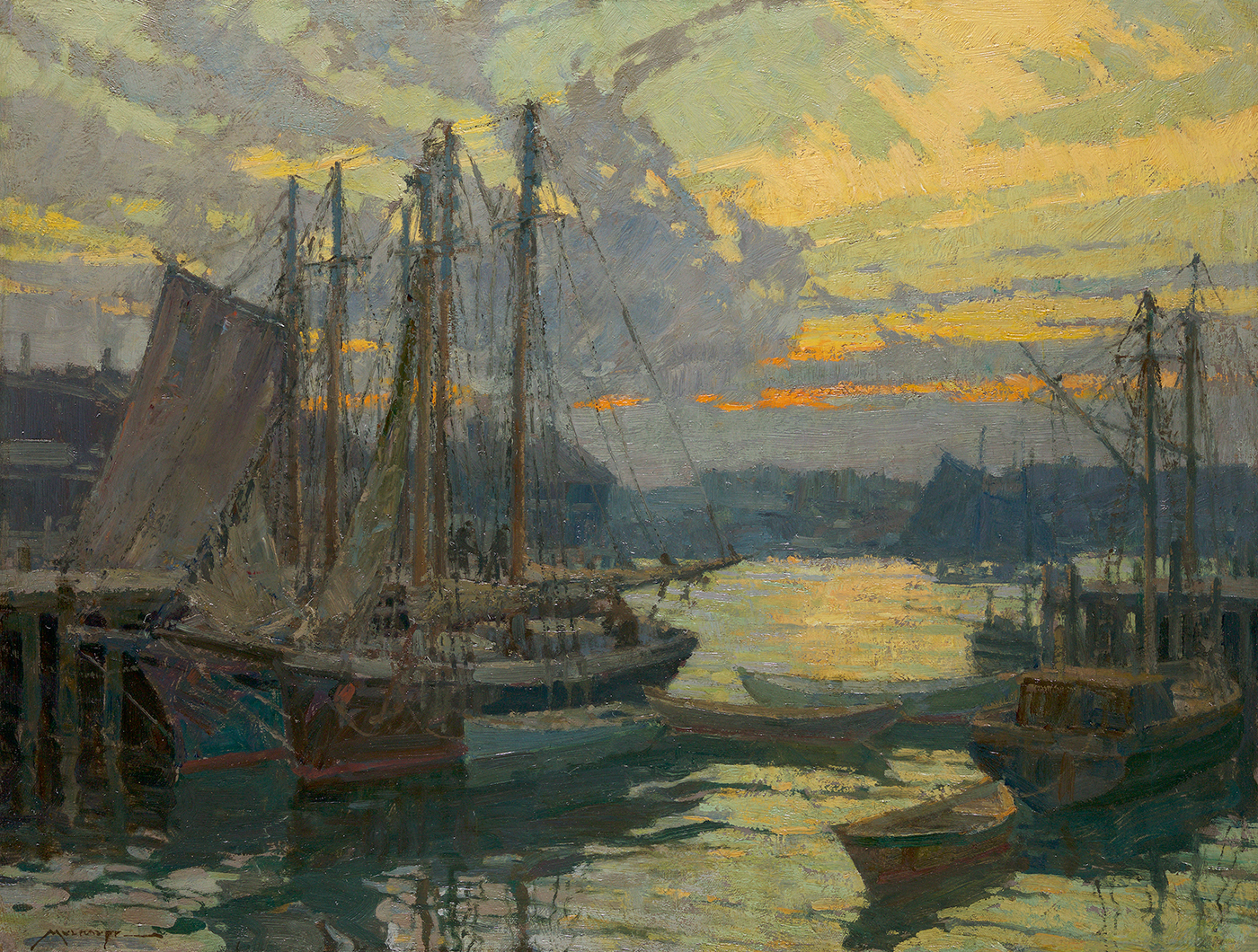 alt Harbor View at Sunset