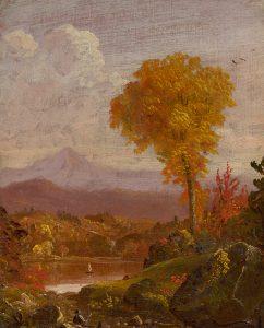 Cole-Reclining Figure, Lake, Mountain Landscape