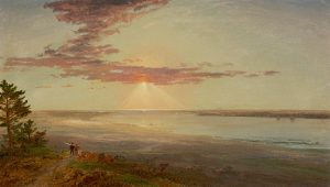 Cropsey-Sunset on a River Inlet, 1870