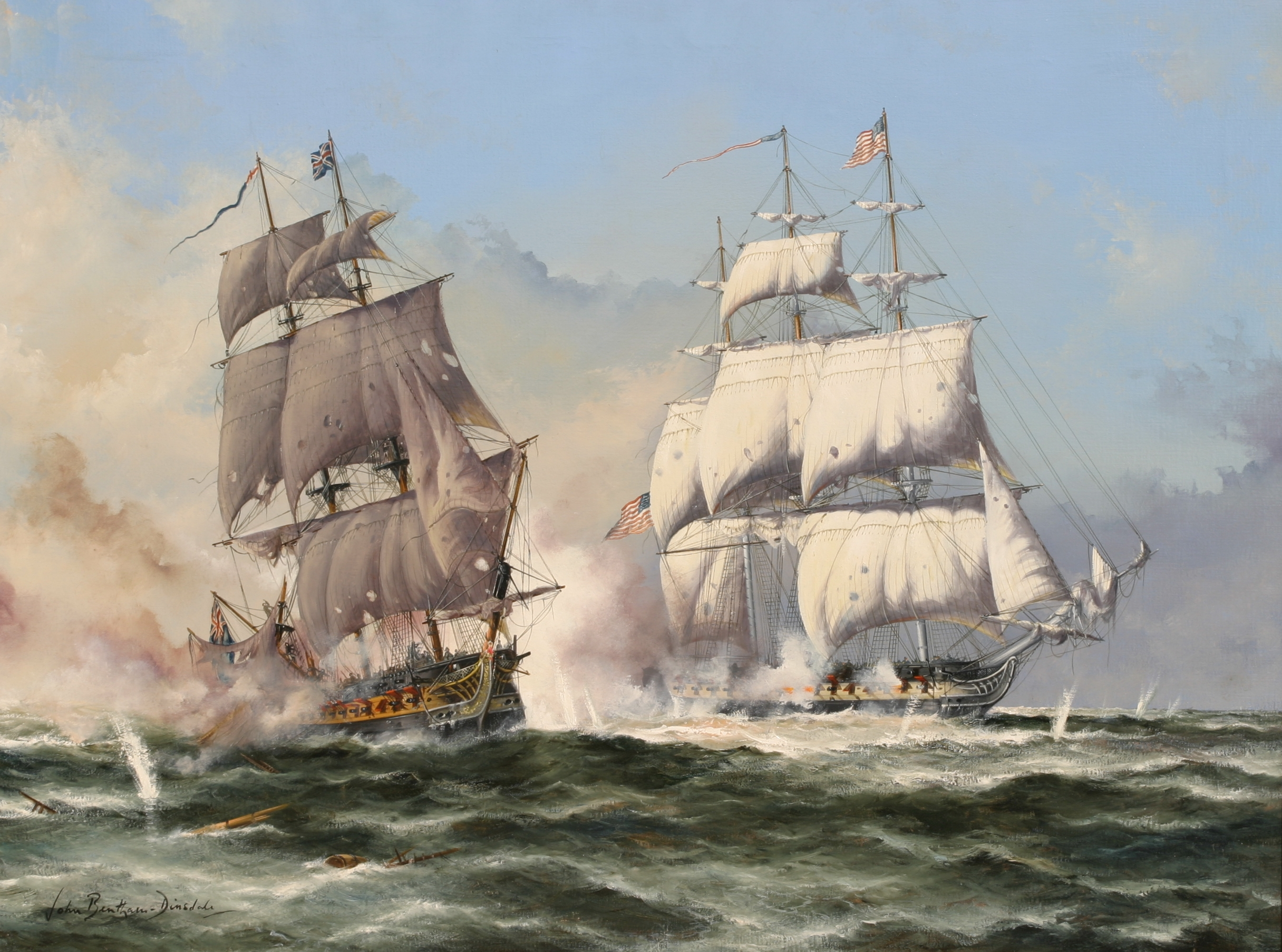 Engagement Between U.S.S CONSTITUTION and H.M.S GUERRIERE