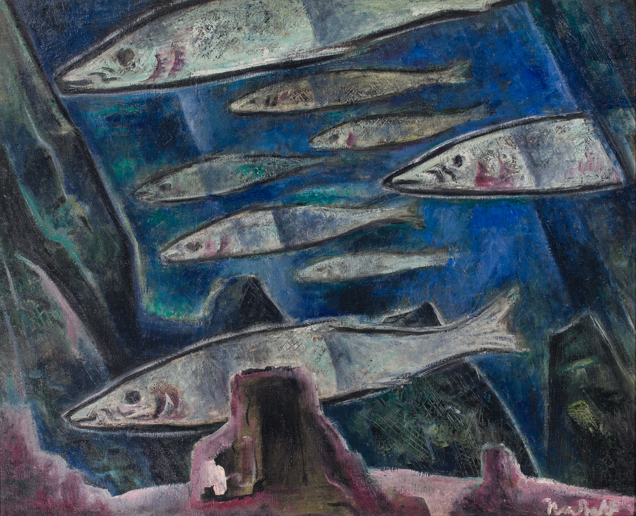 Nordfeldt School of Fish