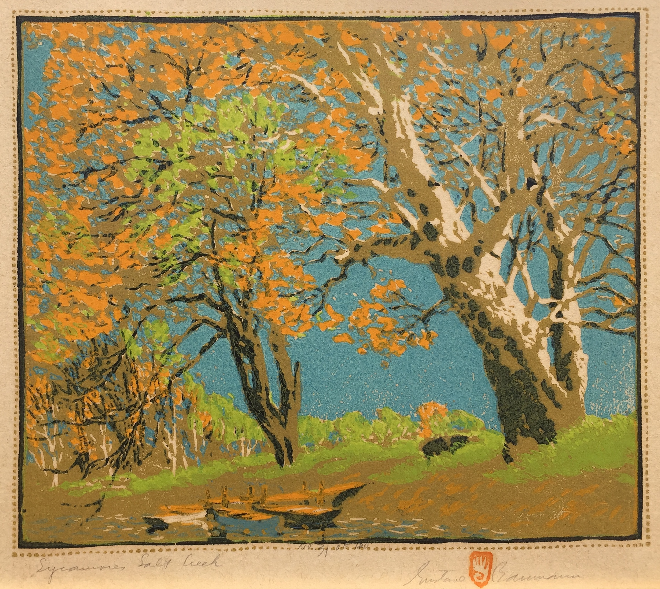 Sycamores, Salt Creek