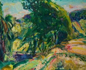 Maurer-Landscape with Green Tree