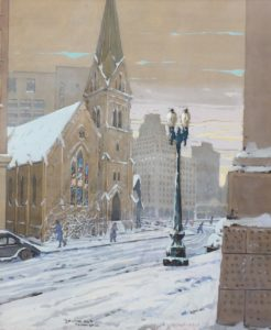 Zwara-Christ Church in Snow, Monument Circle-cropped