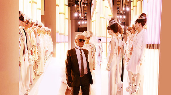 CHANEL, Karl and Brides, Paris, Haute Couture 2010 C-print by fine art photographer Simon Procter