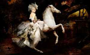 Dior, The Rider C-print by fine art photographer Simon Procter