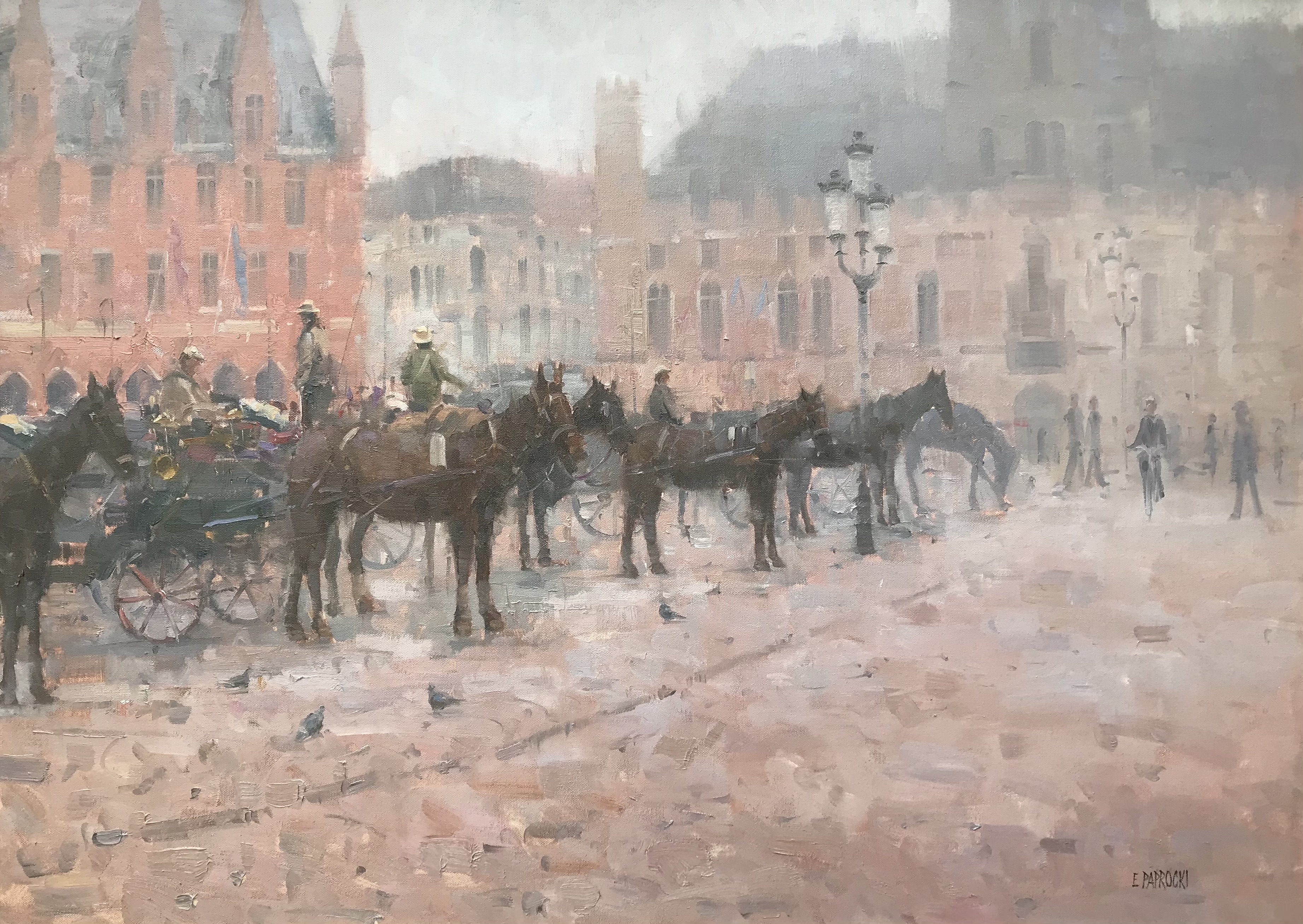 Carriages at Bruges