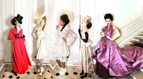 Dior, 5 Girls, Haute Couture Winter 2009