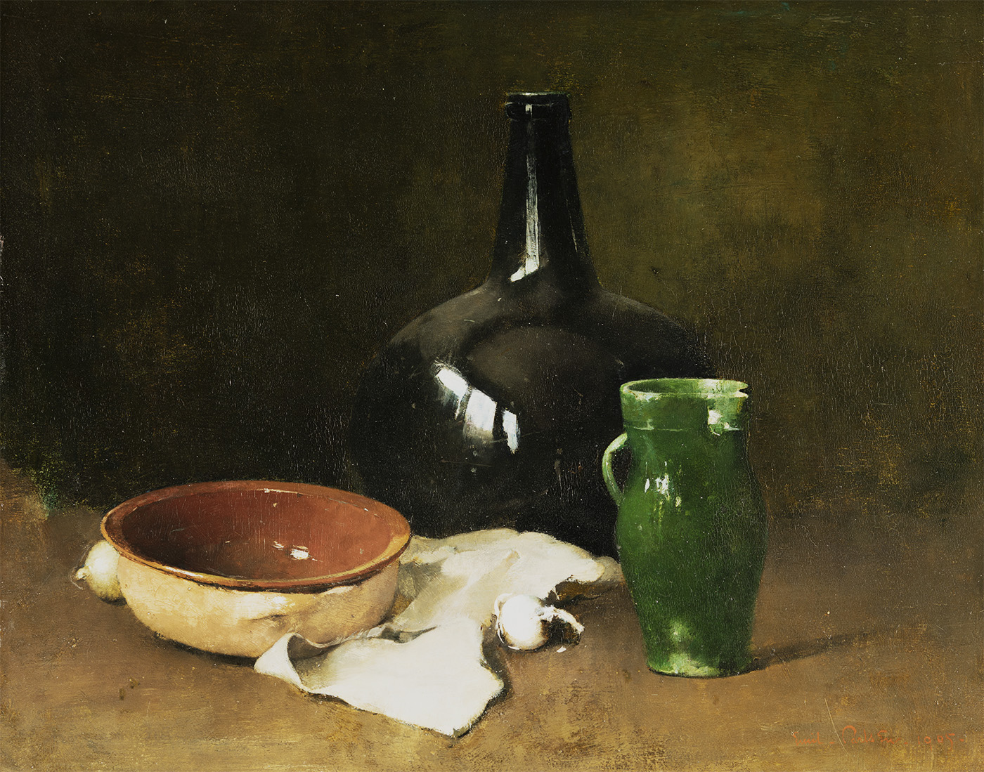 Still Life with Green Pitcher