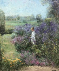 Hoeltzell-Woman with Delphiniums-cropped