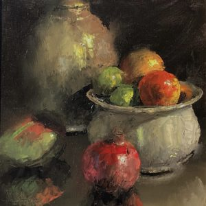 Mundy-Antique Jug & Bowl with Fruit-cropped
