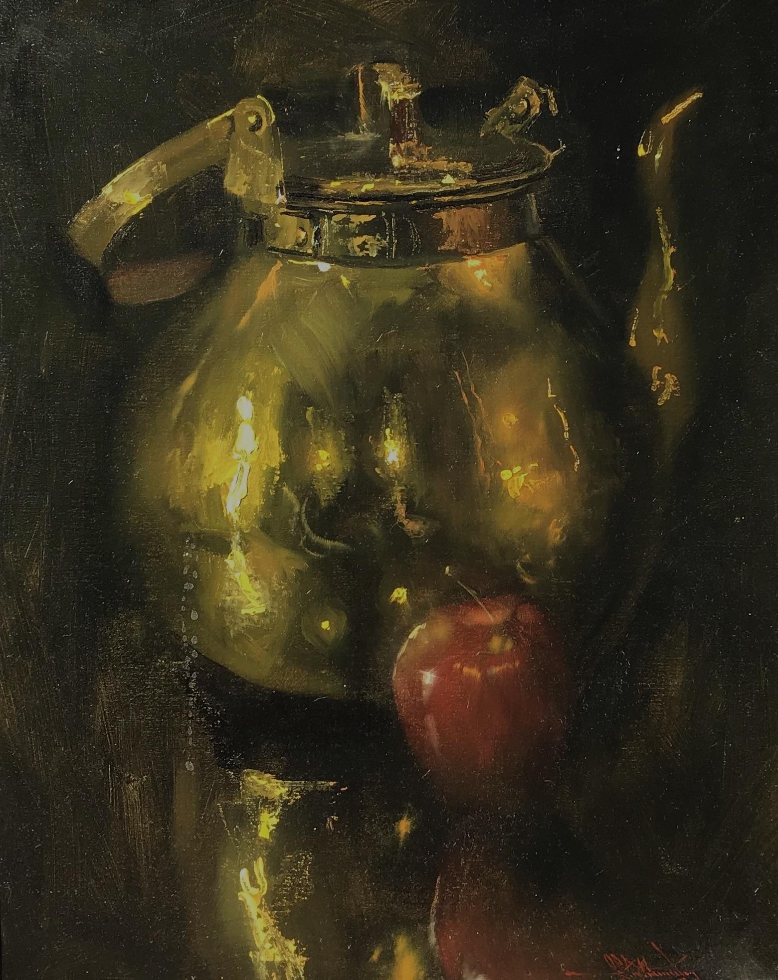 alt Brass Pot & Apple