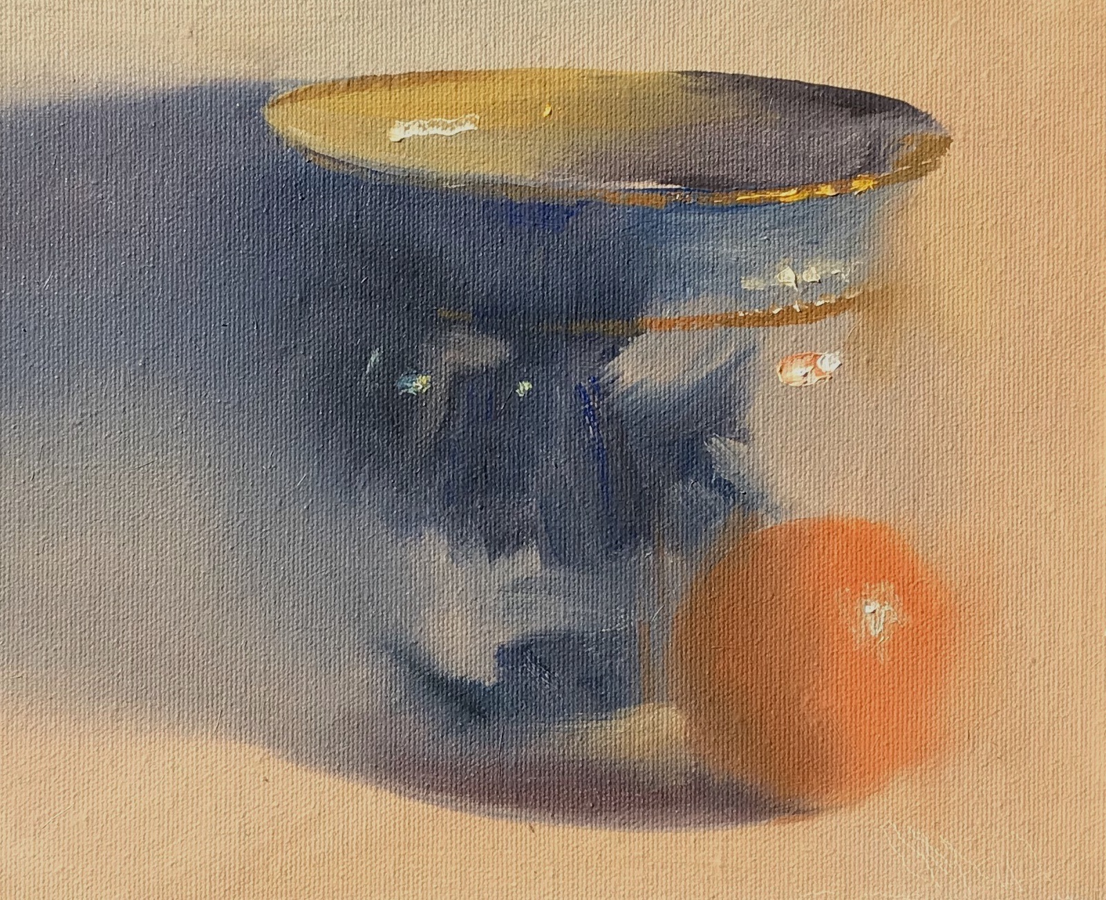 alt Flow Blue Jardiniere with Orange