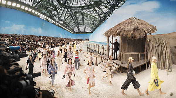 Chanel Beach, Spring/Summer 2019 Fashion Show at The Grand Palais, Paris