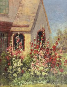 Loop-Hollyhocks:Cottage-cropped