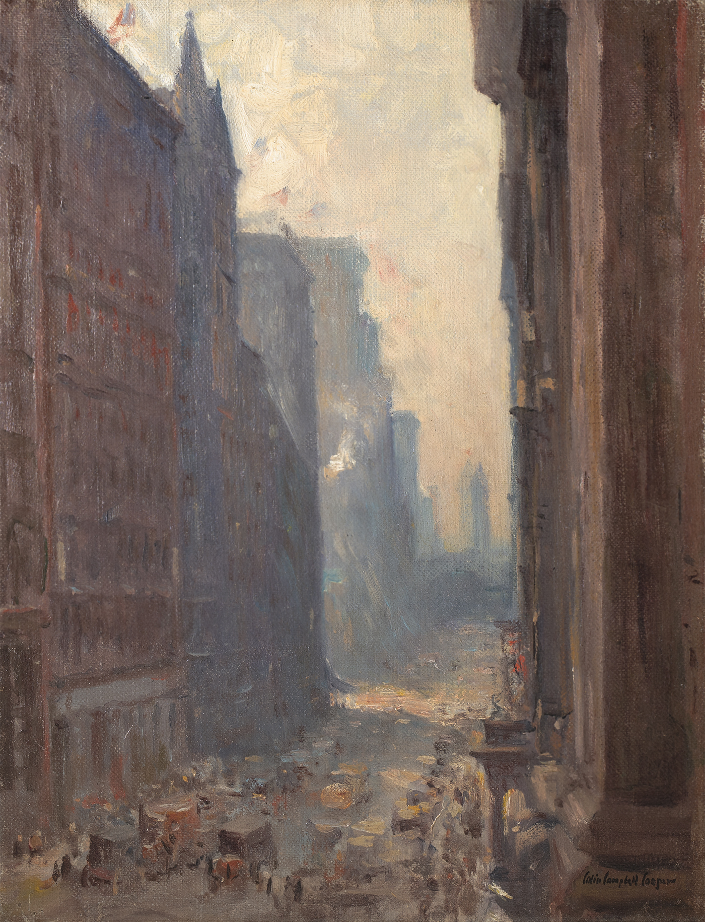 Cooper-New York Street Scene (Looking Up Broadway)