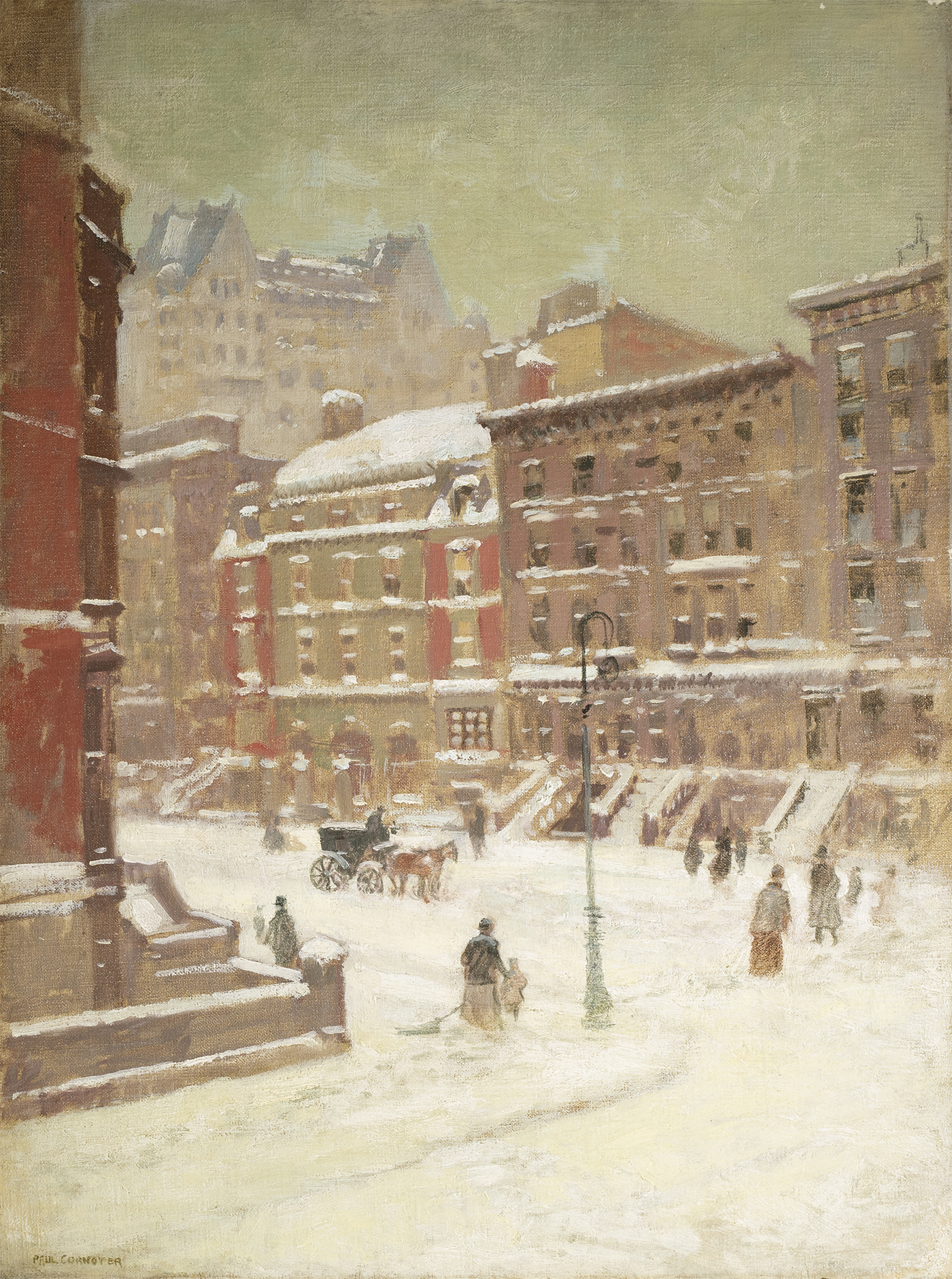 Cornoyer-New York City View in Winter