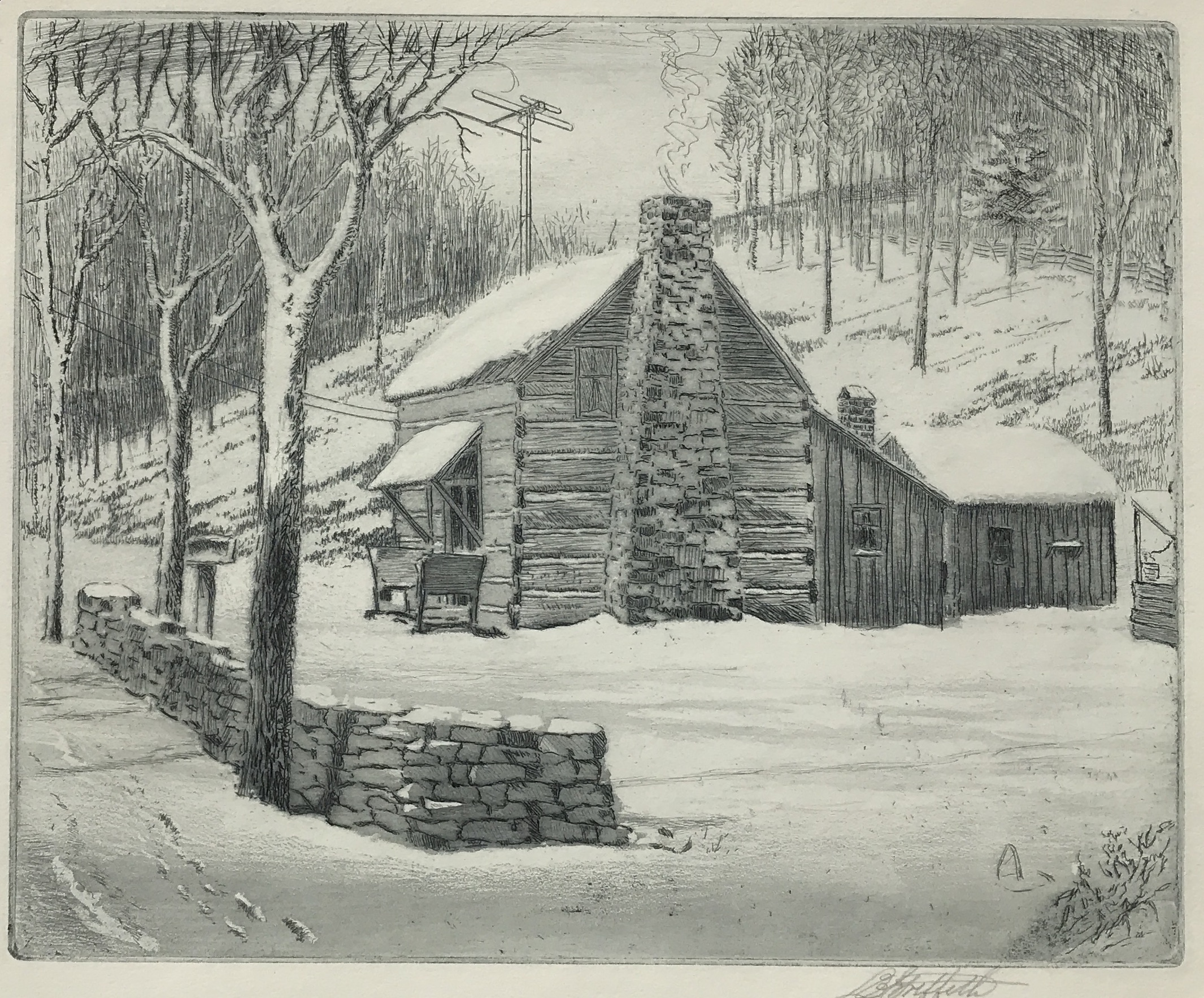 Griffith-Old Cabin in Winter