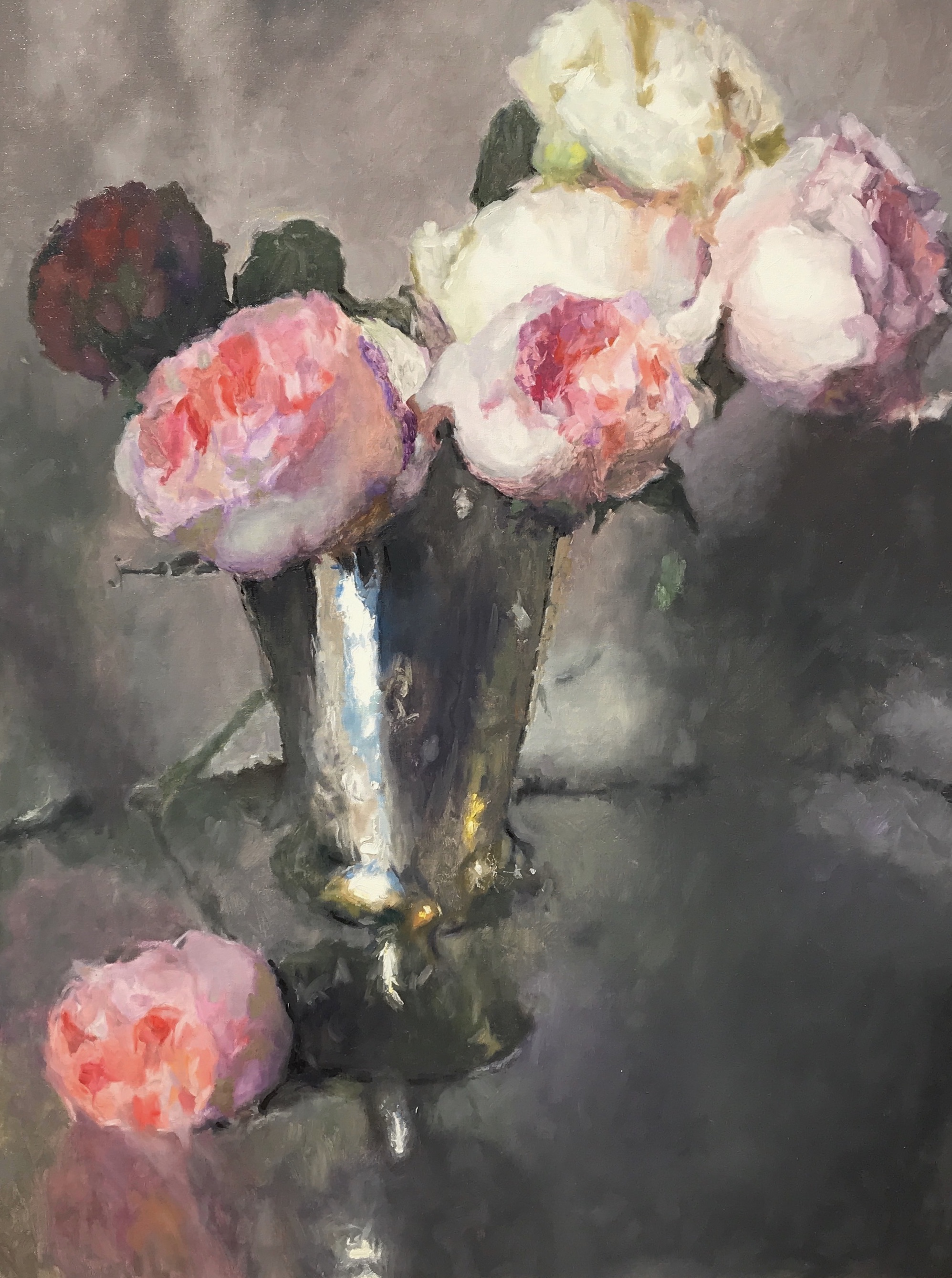 Mundy-Roses in a Silver Vase-cropped