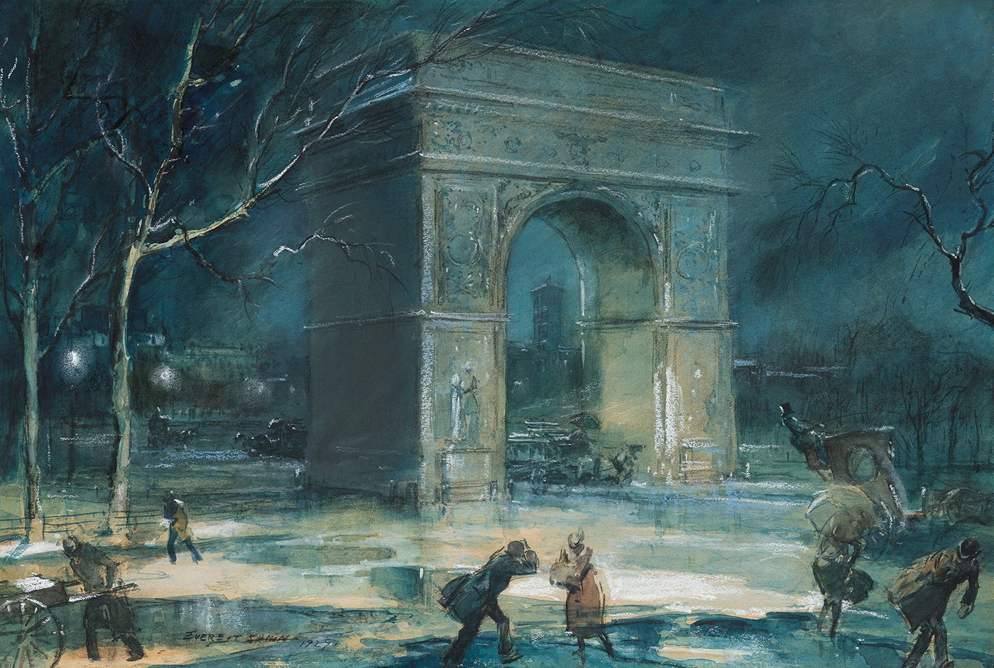 Shinn-The Arch, Washington Square, 1929