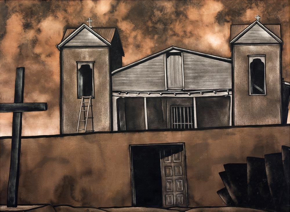 Wells-Cady-Santuario-de-Chimayo-1937-unframed