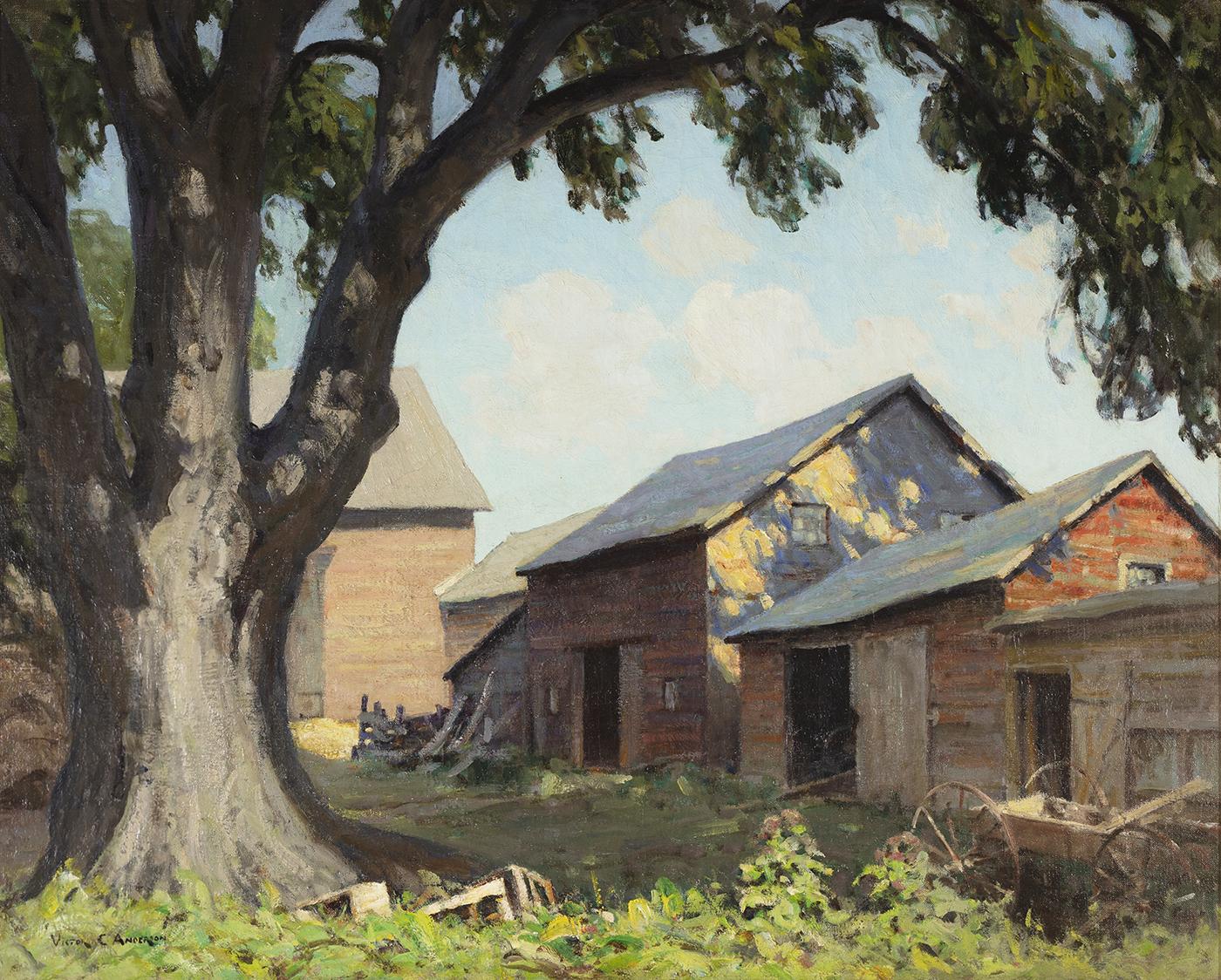 alt Old Farm Sheds (Spring Shadows)