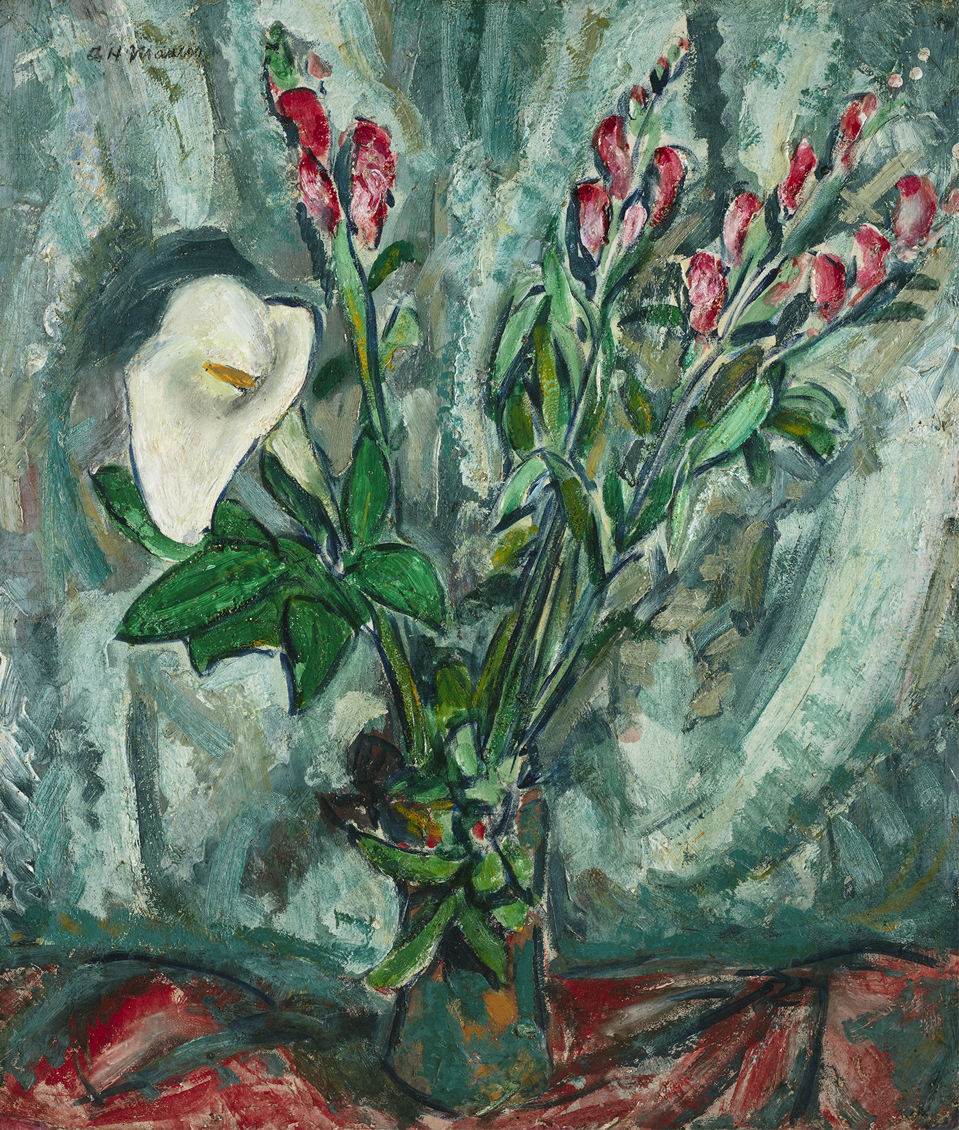 alt Floral Still Life with Calla Lily