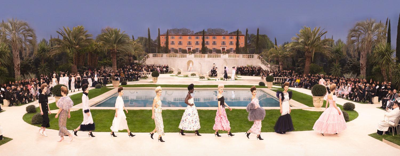 """Artist Simon Procter's """"Chanel Villa, Haute Couture Spring/Summer 2019, Le Grand Palais, Paris"""" C-print photograph"""