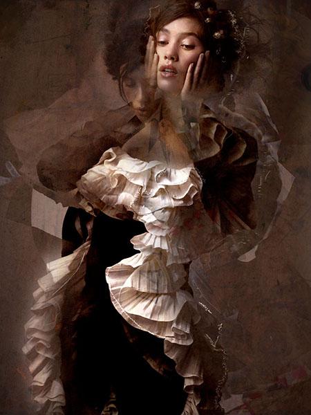 ASTRID NUMBER FOUR, Portrait of Àstrid Bergès-Frisbey C-print by artist Simon Procter