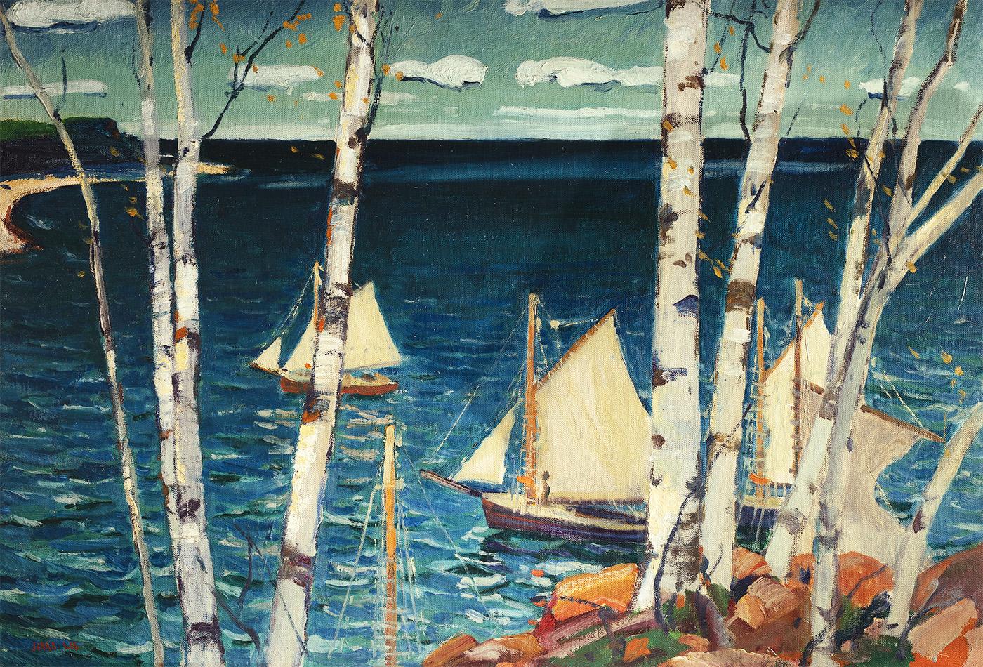 alt Sea and Birches