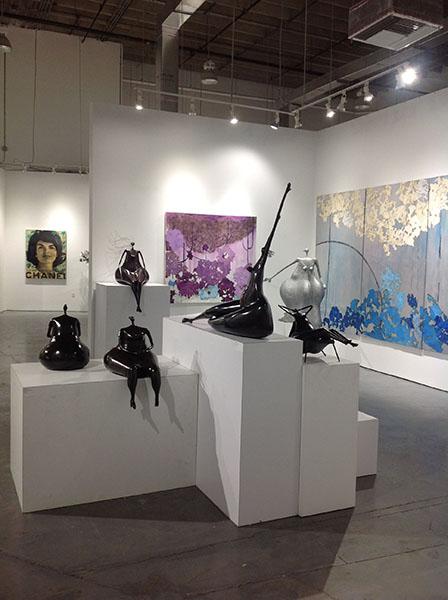 Abigail Varela sculptures on exhibit at Rosenbaum Contemporary in Boca Raton, Florida