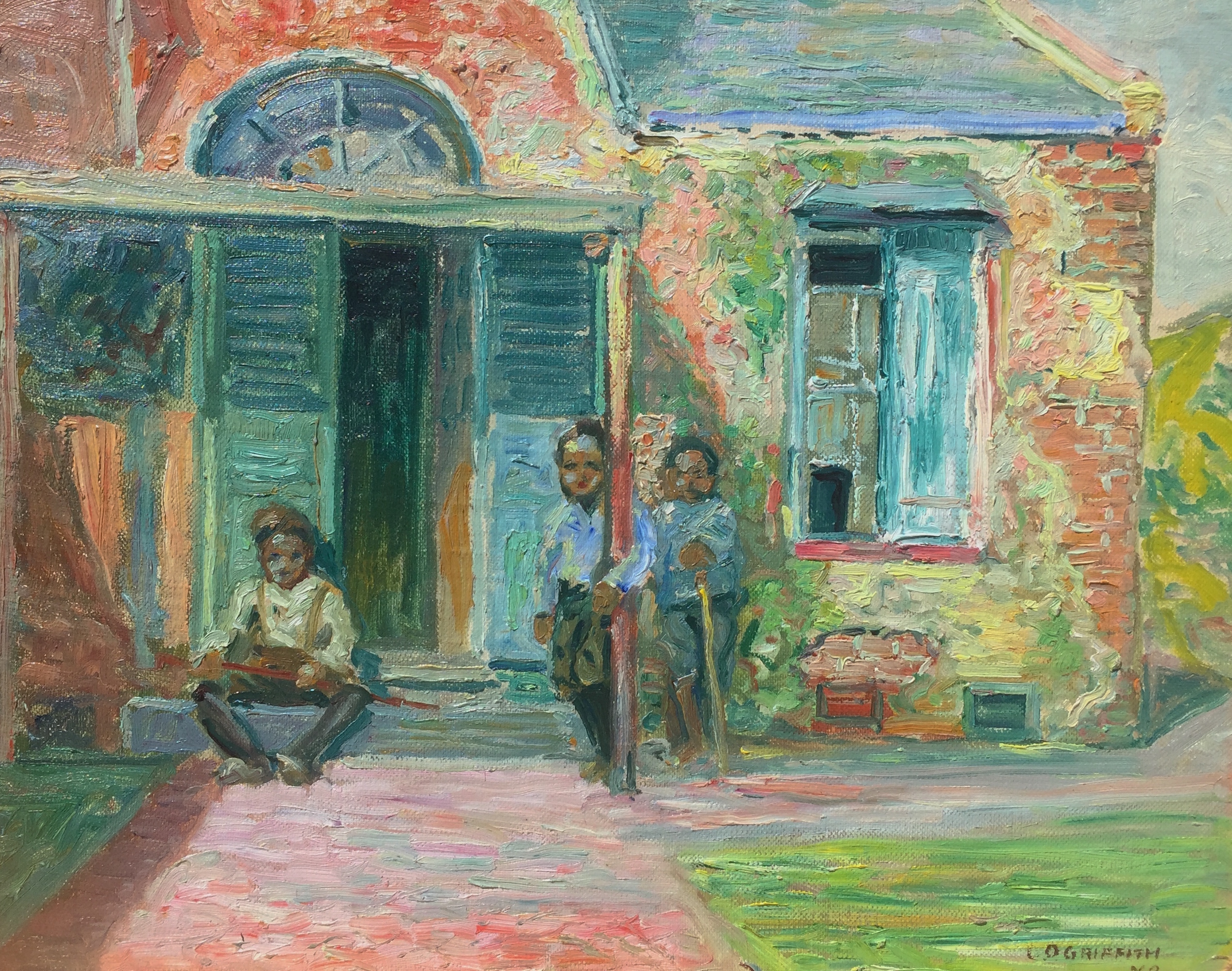 alt Three Boys in a Doorway, New Orleans