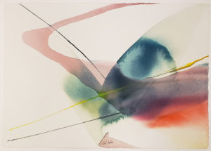 Abstract watercolor on paper by Paul Jenkins