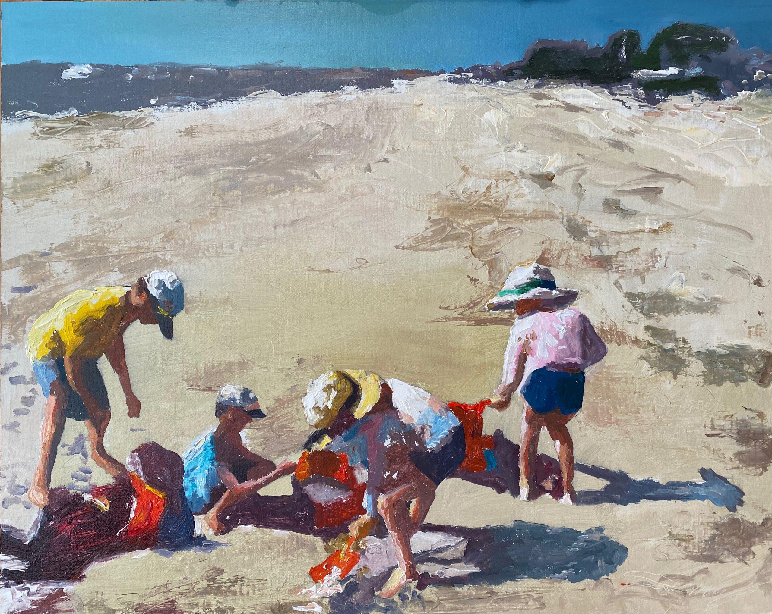 alt Four Children at the Beach