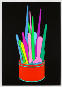 Michael Craig-martin graphic of paintbrushes in can