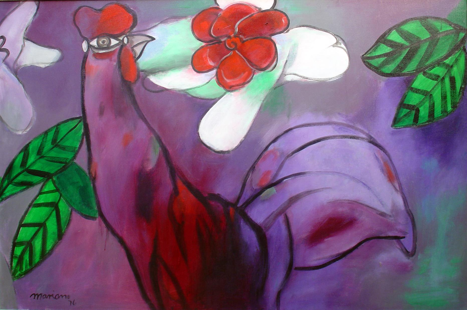 alt Rooster and Flower (Gallo y Flor)