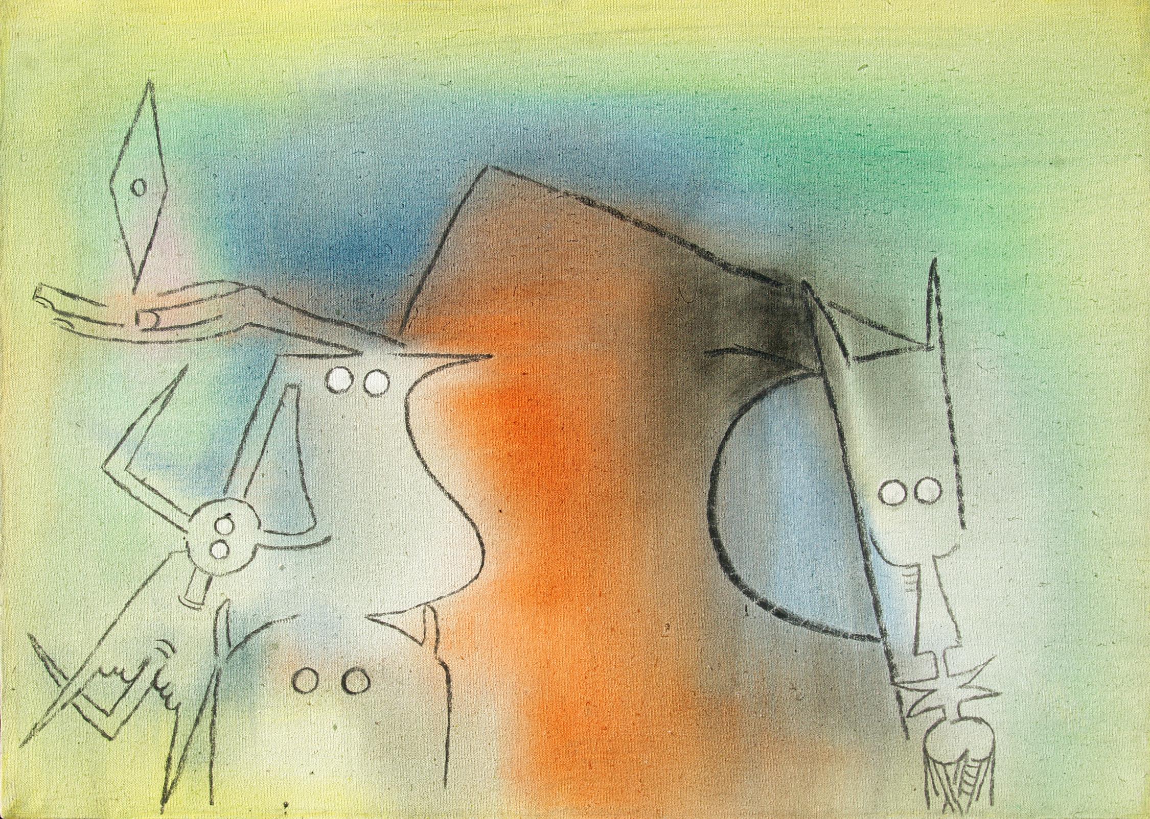 alt Untitled [Bird with Figures] (Sin Título [Pájaro con Figuras]