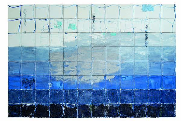 "Juraj Kollár's ""Surface"" oil on canvas painting"